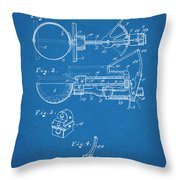 1924 Ice Cream Scoop Blueprint Patent Print Throw Pillow