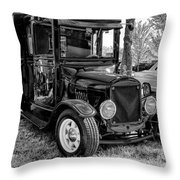 1925 Ford Model T Delivery Truck Hot Rod Throw Pillow
