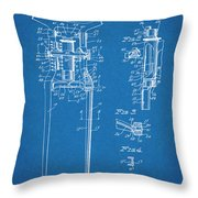 1929 Harley Davidson Front Fork Blueprint Patent Print Throw Pillow