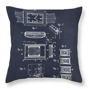 1930 Leon Hatot Self Winding Watch Patent Print Blackboard Throw Pillow