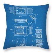 1930 Leon Hatot Self Winding Watch Patent Print Bluebrint Throw Pillow