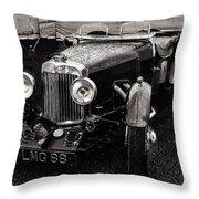 1930's Aston Martin Convertible Throw Pillow