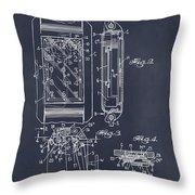 1931 Self Winding Watch Patent Print Blackboard Throw Pillow