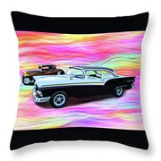 1932 And 1957 Fords Throw Pillow