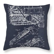 1932 Earth Moving Bulldozer Blackboard Patent Print Throw Pillow