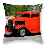 1932 Ford 3 Window Coupe  Throw Pillow