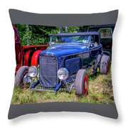 1932 Ford Highboy Hot Rod Roadster Throw Pillow