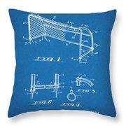 1933 Soccer Goal Blueprint Patent Print Throw Pillow