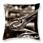 1934 Chevrolet Flying Eagle Hood Ornament Retro Throw Pillow