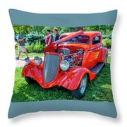 1934 Ford 3 Window Coupe Hot Rod Throw Pillow