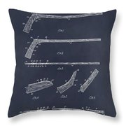 1934 Hockey Stick Patent Print Blackboard Throw Pillow