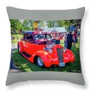 1935 Dodge Coupe Hot Rod Gasser Throw Pillow