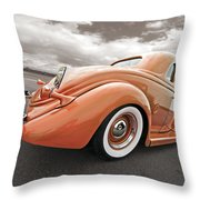 1935 Ford Coupe In Bronze Throw Pillow