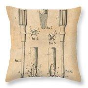 1935 Phillips Screw Driver Antique Paper Patent Print Throw Pillow