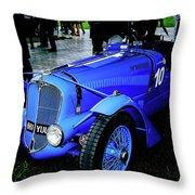 1936 Delahaye 135 Throw Pillow