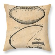 1936 Reach Football Antique Paper Patent Print Throw Pillow