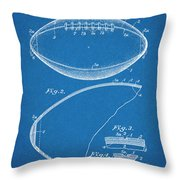 1936 Reach Football Blueprint Patent Print Throw Pillow