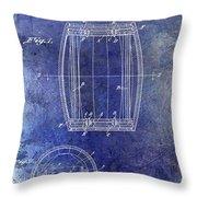 1937 Whiskey Barrel Patent Throw Pillow