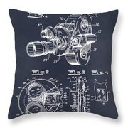 1938 Bell And Howell Movie Camera Patent Print Blackboard Throw Pillow