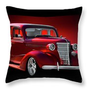 1938 Chevrolet Master Deluxe Sedan Throw Pillow
