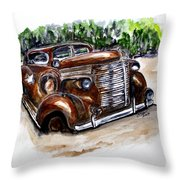 1938 Crime Fighter Throw Pillow by Clyde J Kell