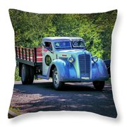 1938 Diamond T Stakebed Truck Throw Pillow