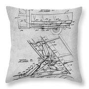 1939 Dump Truck Gray Patent Print Throw Pillow