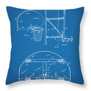 1944 Basketball Goal Blueprint Patent Print Throw Pillow
