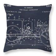 1946 Road Roller Blackboar Patent Print Throw Pillow