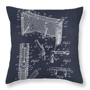 1947 Hockey Goal Patent Print Blackboard Throw Pillow