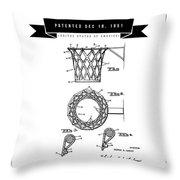 1951 Basketball Goal - Black Retro Style Throw Pillow