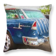 1955 Chevrolet Bel Air Nomad Station Wagon 228 Throw Pillow