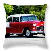 1955 Chevrolet Bel Air Throw Pillow