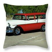 1956 Chevrolet Handyman Station Wagon  Throw Pillow