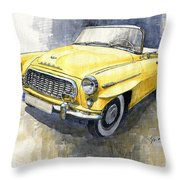 1957-1959 Skoda 450 Cabrio  Throw Pillow