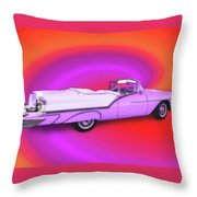 1957 Oldsmobile 98 Starfire Throw Pillow