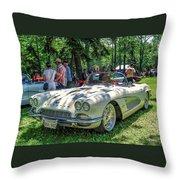 1961 Chevrolet Corvette 002 Throw Pillow