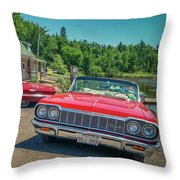 1964 And 1963 Chevrolet Impala Convertibles Throw Pillow