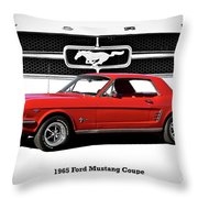 1965 Mustang 289 Coupe Throw Pillow