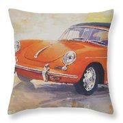 1965 Porsche 356 C Cabriolet Throw Pillow