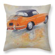 1965 Porsche 356 C Throw Pillow