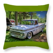 1966 Chevrolet C10 Pickup Truck Throw Pillow