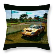 1966 Ford Gt 40mark 11b Coupe Throw Pillow