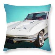 1966 Vette Throw Pillow