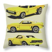 1969 Camaro Throw Pillow