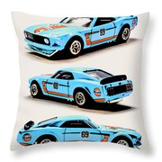 1969 Ford Mustang Boss 302 Throw Pillow
