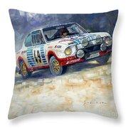 1977 Rallye Monte Carlo Skoda 130 Rs Blahna Hlavka Winner Throw Pillow