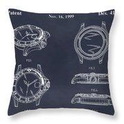 1999 Rolex Diving Watch Patent Print Blackboard Throw Pillow