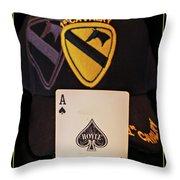 1st. Cavalry Throw Pillow