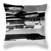 1x15 Rocket Plane Launched From The B52 Carrying It, 1962 Throw Pillow